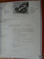 HT141-ORIGINAL AUTOGRAPH PERTTI KORHONEN FINNLAND, LETTER FOR PENTTI KORHONEN 72