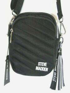 NWT* Steve Madden Bdiana Nylon 3 Compartments Crosbbbody bag  w/FREE tasse key c