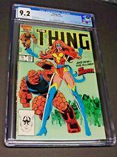THE THING #35 CGC 9.2 NM- 1ST POWER BROKER New Ms. Marvel Sharon Ventura Disney+