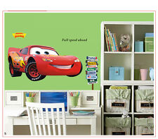 LIGHTNING MCQUEEN WALL DECAL Disney Cars Movie Stickers Racing Decor, New GIANT