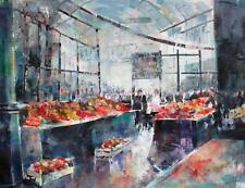 "NEW BEAUTIFUL SERA KNIGHT ORIGINAL ""London Borough Market"" City PAINTING"