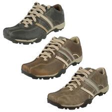 Zapatos informales con cordones de hombre de piel