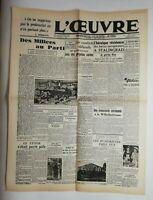 N715 La Une Du Journal L'œuvre 4 février 1943 des milices au parti