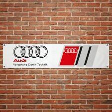 Audi Sport Banner Garage Workshop PVC Sign Trackside Motorsport Car Display