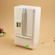 1/12 dollhouse miniature white wooden refrigerator freezer Kitchen Fridge
