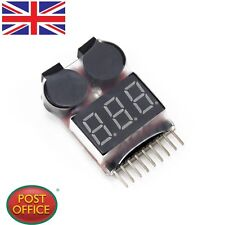RC Lipo Battery Low Voltage Tester 1S-8S Buzzer Alarm Checker Test LED Indicator