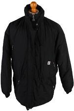 K-Way Vintage Festival Raincoat Waterproof Windbreaker Jacket Black L,XL RC297