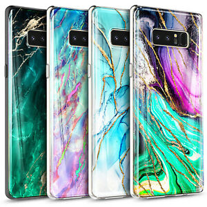 For Samsung Galaxy Note 8 Case Ultra Slim Shockproof Soft Marble Phone Cover