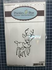 New Prickley Pear Rubber Stamp Christmas Winter Reindeer & baby Free us shp