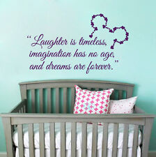 Quote Wall Decal Minnie Mouse Decal Dream Vinyl Sticker Baby Nursery Decor T193