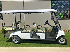 New 2018 White Evolution Golf Cart Carrier LIMO 6 Passenger seat 48v WARRANTY