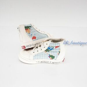 New Vans x Save Our Planet Sk8-Hi Zip Toddler Shoes Canvas Classic White Multi 6