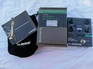 TC ELECTRONIC CLASSIC SUSTAIN PLUS PARAMETRIC EQ - FREE NEXT DAY DELIVERY UK