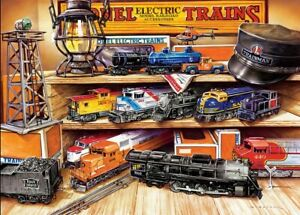 Jigsaw Puzzle Lionel Model Trains Collector's Treasures Display 1000 pieces NEW