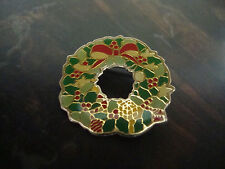 "Christmas Wreath-Pin-1"""