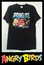 "ANGRY BIRDS T SHIRT ""BRING IT"" (SIZE MEDIUM BLACK GRAPHIC TEE) TV ANIME"