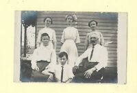 IN Vevay rare 1908-29 RPPC real photo postcard FAMILY ON RURAL ROUTE #3 INDIANA