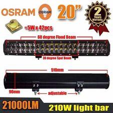 20Inch 210W OSRAM Led Light Bar Flood Spot Combo Beam Work Light 4WD Driving #B