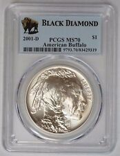 2001 D $1 American Buffalo MS 70 PCGS Black Diamond Holder