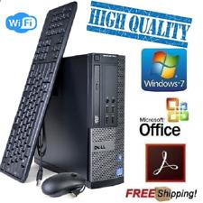 Lightning Fast Dell Core i5 Windows 7 Pro Desktop PC Computer 8Gb 500Gb WiFi N