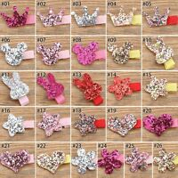 2PCS Mixed Colors Sequins Cartoon Hair Clips Accessories For Girls Babies 1 Set