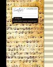 Blank Sheet Music: Music Manuscript Paper / Staff Paper / Musicians Notebook [ .