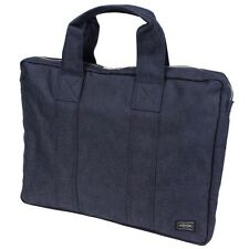 New PORTER SMOKY BRIEF CASE (L) 592-07505 Navy (Blue) From JP