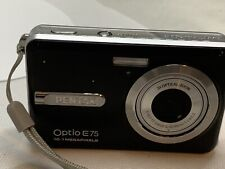 Pentax Optio E75 10.1MP 3x Optical Zoom Digital Camera- Black