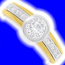 Markenlose solitäre Diamanten-Ringe aus mehrfarbigem Gold