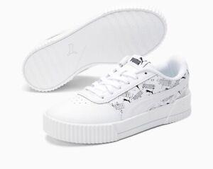 Puma Carina Hand Drawn Sneakers JR White/Black 368802-01. BRAND NEW