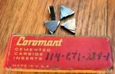 Sandvik Coromant Cemented Carbide Inserts - 114-CT1-284-1 - QTY. 4 - NEW!!