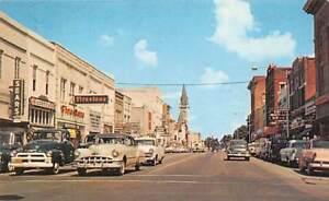 VALDOSTA, GA ~ DOWNTOWN BUSINESSES, SEARS & FIRESTONE STORES & CARS ~ c. 1950s