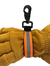 Line2design Firefighter Glove Strap Heavy Duty Turnout Gear Reflective - Orange