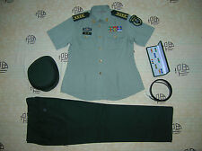 Obsolete 07's China PLA Army Woman Officer Summer Short-sleeved Uniform,Set,D