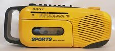 Sony Sports Water Resistant Am/Fm Radio Cassette Player Cfm-101 W/Adapter Tested