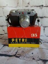 1955 Petri 35 2.8 camera and original Box  Rangefinder Japan vintage