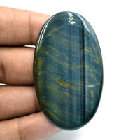 Cts. 80.50 Natural Chatoyant High Grade Blue Tiger Eye Cabochon Oval Gemstone