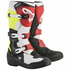 Alpinestarts Tech 3 Motocross Riding Boots Black White Yellow Red Adult Size 9