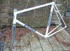 Benotto road frame 56 cms. repainted white...new chrome forks 1970s