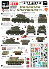 STAR decalcomanie, 35-935, decalcomania per shermans canadese in Corea. M4A3E8 hvss&o thers