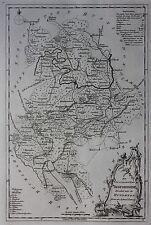 Original antique map, ENGLAND, BEDFORDSHIRE, 'England Displayed' G. Rollos, 1769