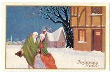 NEVE LA MODA - ART DECO  Max Ninon  BUON NATALE  Joyeux Noël  degami 3094