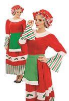 Ladies Traditional Santa Mrs Claus Xmas Christmas Fancy Dress Costume Plus Size