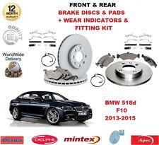 Für BMW 520d 520i F10 Vordere & Hintere Bremsbeläge Scheibe Passend Kit Wear