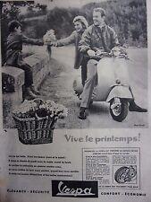 publicité de presse   VESPA    en 1958    ref. 31201