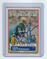 1983 PACKERS John Jefferson signed card Topps #80 AUTO Autographed Green Bay