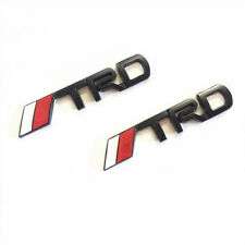 for Toyota TRD Sports Car Front Grille Emblem Badge Black Camry Corolla Yaris