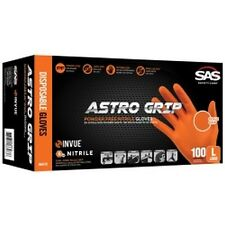 Sas Safety 66572 astro Empuñadura libre de polvo naranja guantes nitrilo (medio)