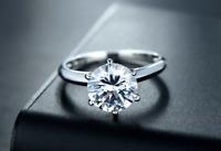 3 CT Carat VVS1 Round CUT Bridal Engagement RING Sterling Silver Size 5-10 Paris