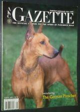 Akc Gazette l German Pinscher Cover Jan. 2003 Scenthounds Kerry Blue Terrier